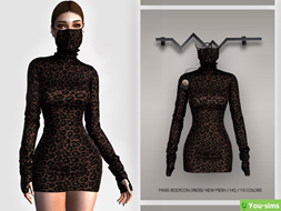 Платье Mask Bodycon от busra-tr